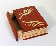 Book shaped bandsaw box, #00701b