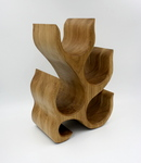 Wooden wine holder by Taya